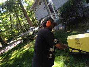 Hard at Work - Landscaping Connecticut Mowing