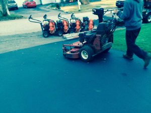 Lawnmower at Work - Landscaping Rhode Island